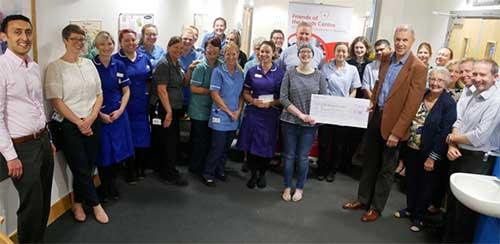 Friends of Leeds Haem cheque presentation on ward