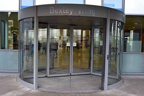 Doorway to Bexley Wing